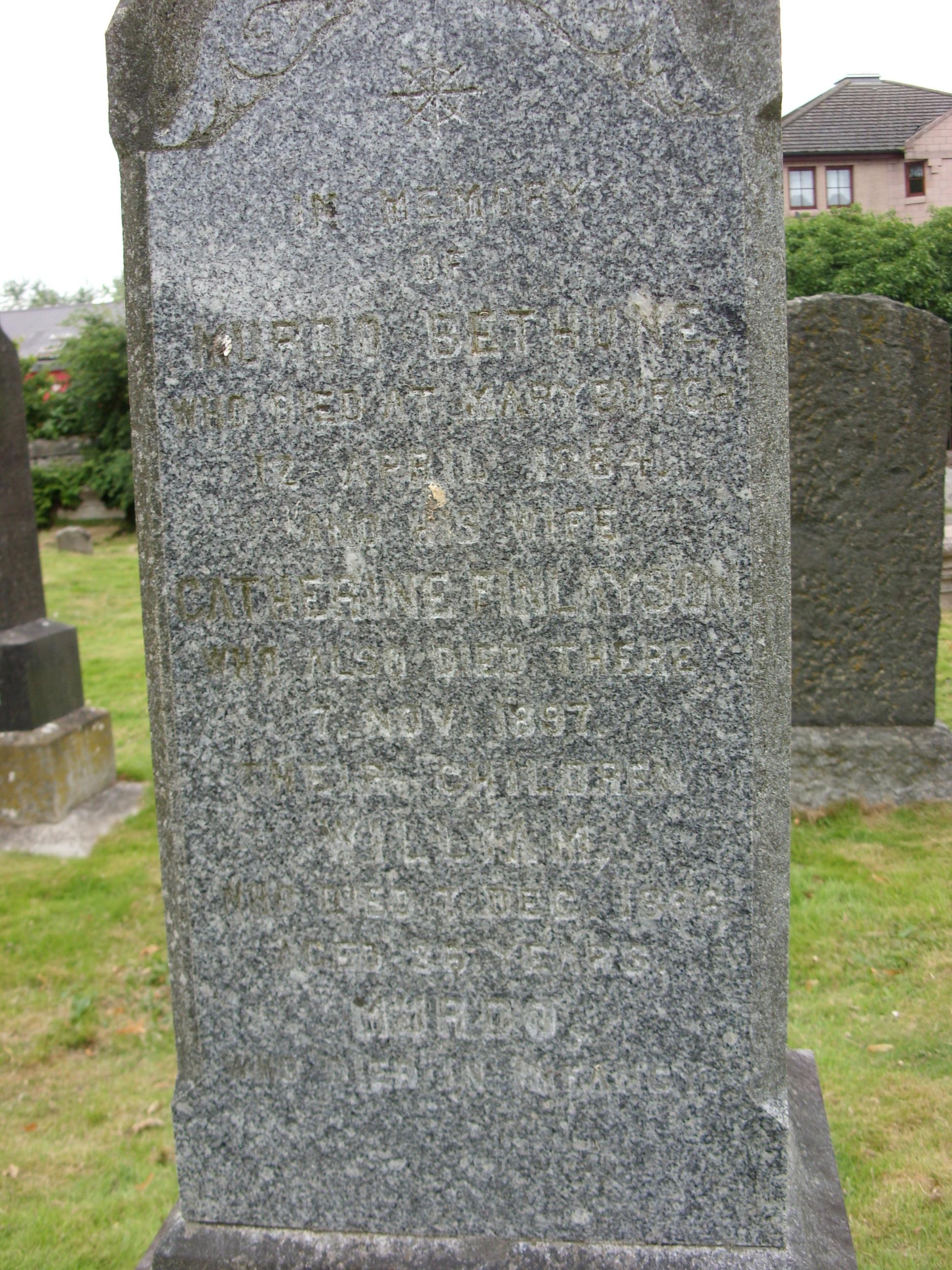 St Clements Churchyard Dingwall Ross Shire